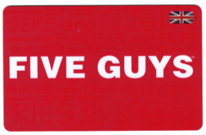 Five Guys UK gift card